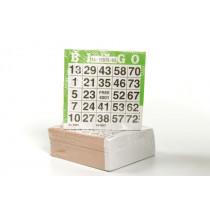 Longfield Papier Bingokarten eingestellt von 500
