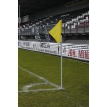 UEFA Eckfahne Sticks Weiß 30 (mit Feder)