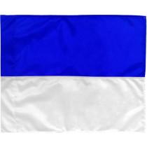Eckfahne 2 Farben - Blau / Weiß