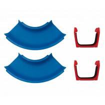 Aquaplay 102 Kanalsysteme - Kurven, Sets von 2